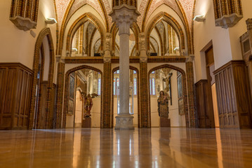 Interior of the Bishop's palace in Astorga on the Camino de Santiago