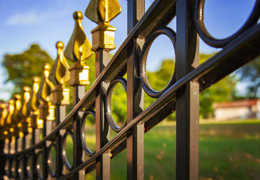 Decorative cast iron fence