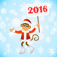 The monkey with the tablet of 2016