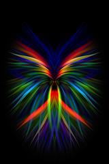 Movimento astratto sfondo grafico multicolore