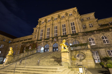 townhall kassel germany at night