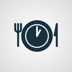 Flat Lunch Time icon
