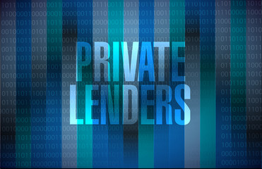 private lenders binary background sign concept