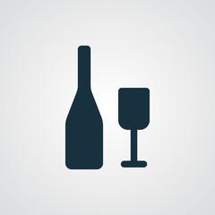 Flat Wine icon
