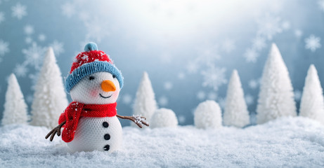 Snowman and Christmas decorations