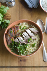 Mixed roast meats with noodles