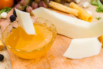 Gourmet Fruit and Cheese Board with Preserves