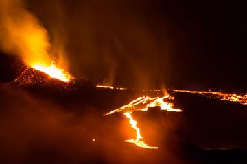 Cône éruptif ile de la Réunion 2015