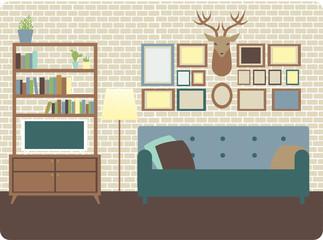 Cozy living room vector