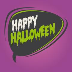 happy halloween speech bubble