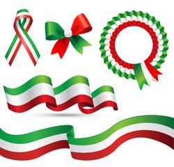 bandiera italia nastri