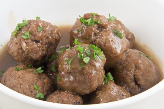 Bowl of Swedish Meatballs