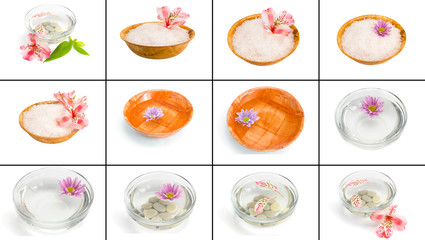 A large collection of photos on the theme of the spa treatments