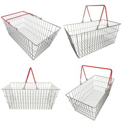 Collection. Empty basket with red rubberized handles