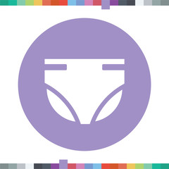Diapers icon.