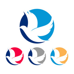 Abstract Pigeon Logo Icon