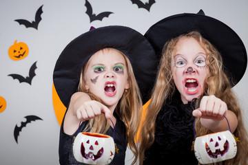 Happy children on Halloween party