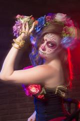 Halloween face art, motion effect, blur effect