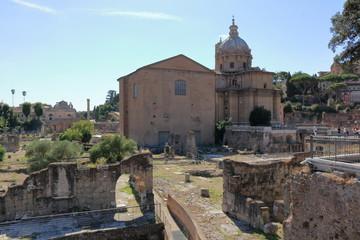 Chiesa dei Santi Luca e Martina from Foro di Nerva