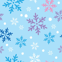 Vector seamless winter Christmas background