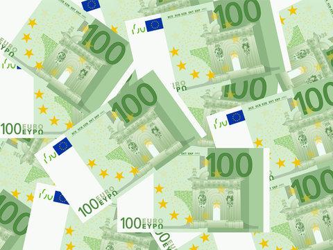 one hundred euro background