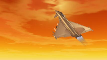Europäisches Kampfflugzeug im Einsatz