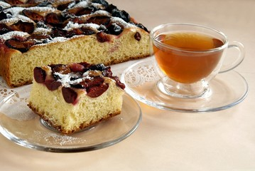 fruit cake with plums
