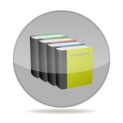 books icon, button, logo