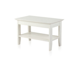 Small white wooden table