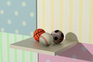 basketball, baseball, soccer