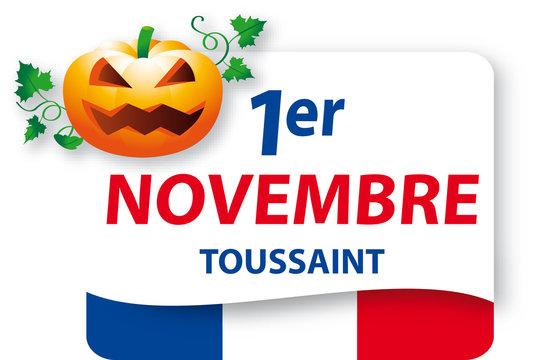 1er Novembre - Fête de la Toussaint - Version2 citrouille