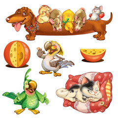 Home Zoo Cartoon Pets
