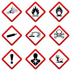 9 Gefahrensymbole - Set