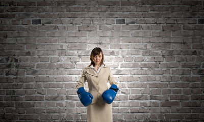 Wall Mural - She is fighter