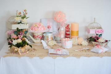 wedding decor on a white background