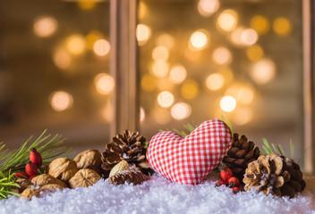 Weihnachtsgrüße Herzlich Weihnachtsdekoration Hintergrund