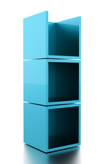 Abstract cubes background rendered