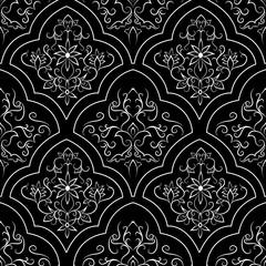 Oriental pattern. Seamless vector background
