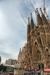 Crowds in front of Sagrada Familia Church