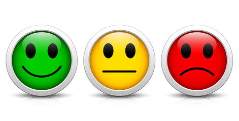Smileys – Evaluation buttons with reflection