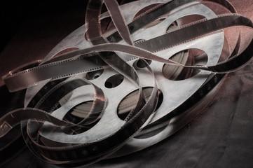 Movie reel on a black background