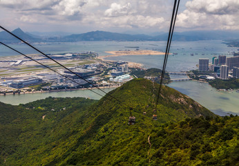 A view at the Hong Kong airport from cable car