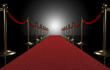 Red carpet on black