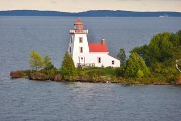 Leuchtturm auf Strawberry Island