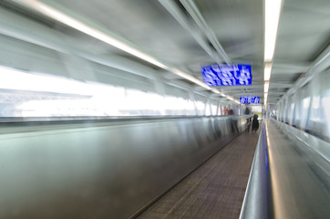 conveyor belt in the airport of Rome
