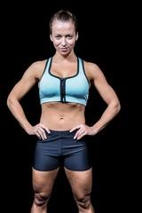 Portrait of beautiful fit woman