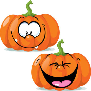 funny pumpkin character - vector illustration