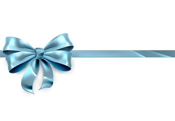 Blue Bow Gift Background
