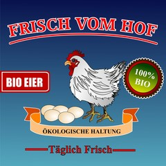 Frische Bio Eier - Werbeplakat