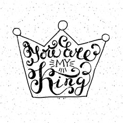Crown with hand drawn typography poster